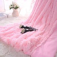 Покрывало травка, євро розмер 220*240 цвет розовый