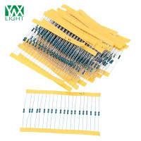 YWXLight 600pcs 30 видов 1 / 4 Вт 20Ω-1М 1% допуск сопротивления металл резистор комплект Ассорти комплект Синий и чёрный