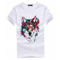 Модная повседневная футболка для женщин с 3D печатью волка бестселлер S