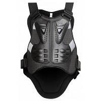 WOSAWE BC334 ударопрочный защитный жилет для тела во время езды на велосипеде и мотоцикле Чёрный