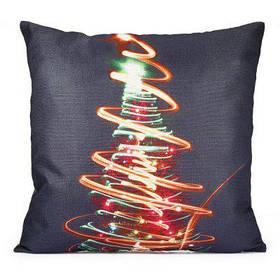 Наволочка Для Декоративной Подушки С Рождественской Елкой С Гирляндой - Разноцветный