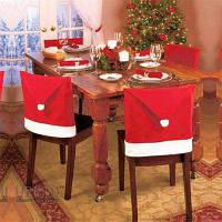 Красный чехол на стул рождественские украшения с дизайном шляпы санта-клауса Красный