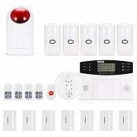 WIFI / GSM / 3G / GPRS комплект охранной сигнализации Белый и чёрный