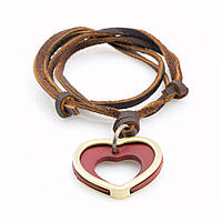 Кулон на кожаном шнурке Everiot NLP-DL-2069 в форме сердца
