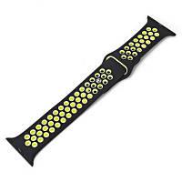 Силиконовый браслет для iWatch 1 / iWatch 2 Жёлтый и чёрный