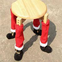 AY-hq246 4шт чехлы для ножек столов и стульев рождественские украшения Красный