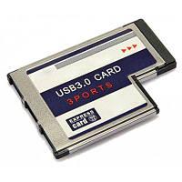 3 портовая Express карта 54мм слот USB 3.0 конвертер для ноутбука EU-14265