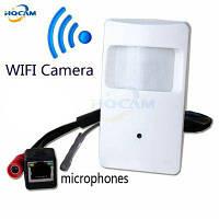 720P детектор HD PIR беспроводная мини-камера с WiFi-портом Белый цвет снега