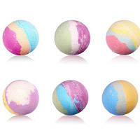 Непенистая бомбочка для ванн в виде шарика 1шт Цветной