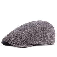 Хлопок британский Стиль классический берет шляпа для мужчин Серый