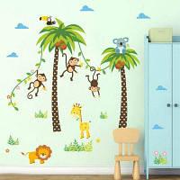 Милый Съемный обезьяна стены наклейки для малышей номер 79205