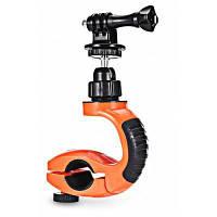 А1 Универсальный велосипедный держатель для экшн камеры / видеокамеры Черный и оранжевый