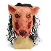 Ужасная виниловая полнолицевая маска с формой свиньи маскарадная бутафория Цветной