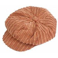 Мода согреться Восьмиугольник Бейсбол Hat для женщин Желтовато-коричневый