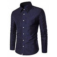 Мужчин Кнопка Вниз Рубашка С Длинным Рукавом M