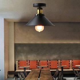 Ever-Flower ретро промышленная металлическая заподлицо с потолочным светильником для спальни вход в коридор окрашенная отделка - Чёрный