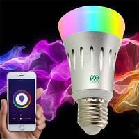 Ywxlight E27 Wi-Fi Разноцветные светодиодные лампы Dimmable Смартфон Контролируемый AC 85-265V RGB