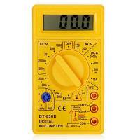 DT-830D Цифровой мультиметр Электронный измерительный инструмент Жёлтый