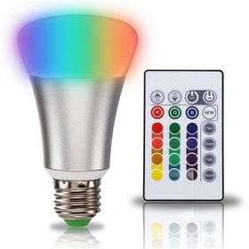 SUPli 10W Светодиодная лампа изменение RGB цвета пульт дистанционного управления с таймером - RGB + белый цвет