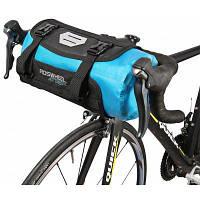 ROSWHEEL 111369 водостойкая 7Л сумка для руля велосипеда Синий и чёрный