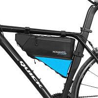 ROSWHEEL 121371 водонепроницаемая велосипедная треугольная сумка 4Л Чёрный