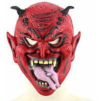 Реалистичные злой Якша латексная маска с прилип-Язык Красный