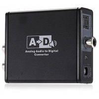 Аналоговый стереофонический оптический коаксиальный аудио конвертер Чёрный