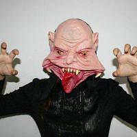 Ужасная резиновая полнолицевая маска в форме демона замаскированный реквизит 1шт Цветной