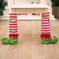 Рождественские чехлы для ножек столов и стульев в форме симпатичных сапог 1шт Цветной