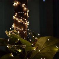2M 20-светодиодные лампы с батарейным питанием Медные провода String Lights для рождественского фестиваля Свадебная вечеринка Домашнее украшение