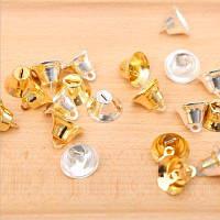 Мини-колокольчики творческий орнамент для украшения рождественской елки домашнее украшение для праздничной вечеринки 10шт серебристый и золотой