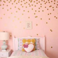 YEDUO 54 Золотой горошек стикер стены питомника младенца наклейки Детская комната наклейки домашнего декора DIY искусство винила 4см Золотой