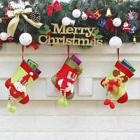WS0072 Рождественский чулок подарочная сумка для украшения рождественской елки 85839