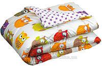 Одеяло демисезонное антиаллергенное Руно сатин Совы 140х205 см