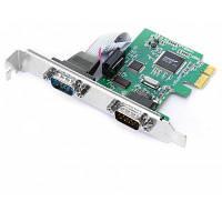 PCI -экспресс DB9 RS232 2-портовый адаптер контроллер карта Чёрный