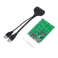 USB 3.0 на SATA жесткий диск на NGFF / MSATA SSD плата расширения Чёрный