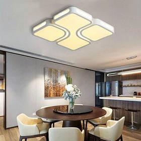 EverFlower Макс 24Вт Современный светодиодный потолочный светильник для гостиной спальни с окрашенной отделкой - Тёпло-белый свет