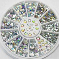 4 размера 300шт Кристалл для маникюра блестящие украшения из горного хрусталя