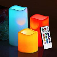 Youoklight 3PCS 1W Dc5v 12 Цвет светодиодный бездымный Мерцание Электронные свечи без батареи Бежевый белый