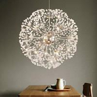LANSHI Креативная хрустальная одуванчик-образная люстра с пультом дистанционного управления домашнее освещение подвесная лампа плафоны для люстр