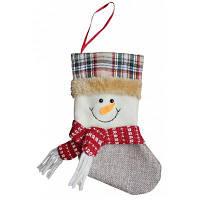 Рождественский декоративный мешок чулок для подарков дизайн снеговик Цветной