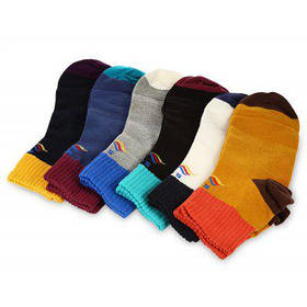 6 пара STAR FROM 1501 хлопковые короткие спортивные носки для путешествие - Цветной