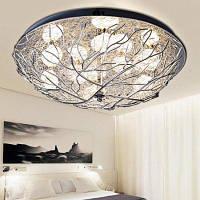 Кристаллическое светодиодное потолочное освещение 220В в форме гнезда Кварцевый цвет