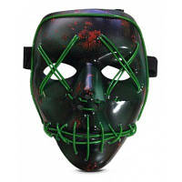 Декоративная светящаяся маска для косплея Хэллоуина Чёрный