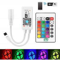 YWXLight WiFi беспроводной из светодиодов Смарт-контроллер для RGB полосы света 24 ключи пульт дистанционного управления RGB