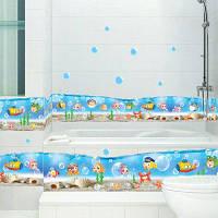 Детская Подводный Мир Водонепроницаемый Стикер Стены Животных Разноцветный