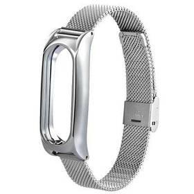 Запасной сетчатый браслет из нержавеющей стали TAMISTER для Xiaomi Mi Band 2 - Серебряный