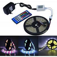 Jiawen 5м 5050 RGBW водонепроницаемые светодиодные полосы света+пульт дистанционного управления светодиодный контроллер+12V 2A питания RGB+белый