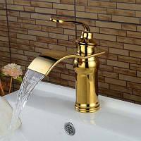 LING HAO HL-12 Кран с одной ручкой для ванной комнаты дизайн водопад LH-38639