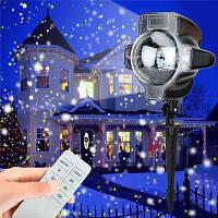 SUPli Рождественский светодиодный снег водонепроницаемый проектор свет с беспроводной пульт дистанционного управления для наружного Конвертер